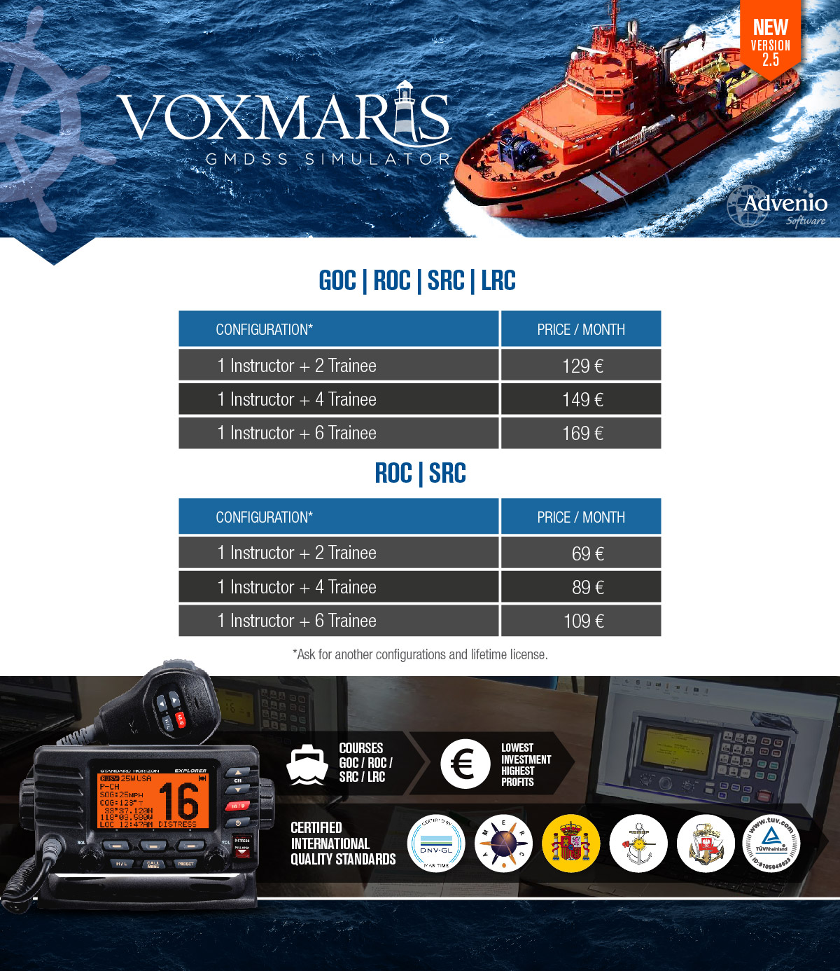 Vox Maris - Prices